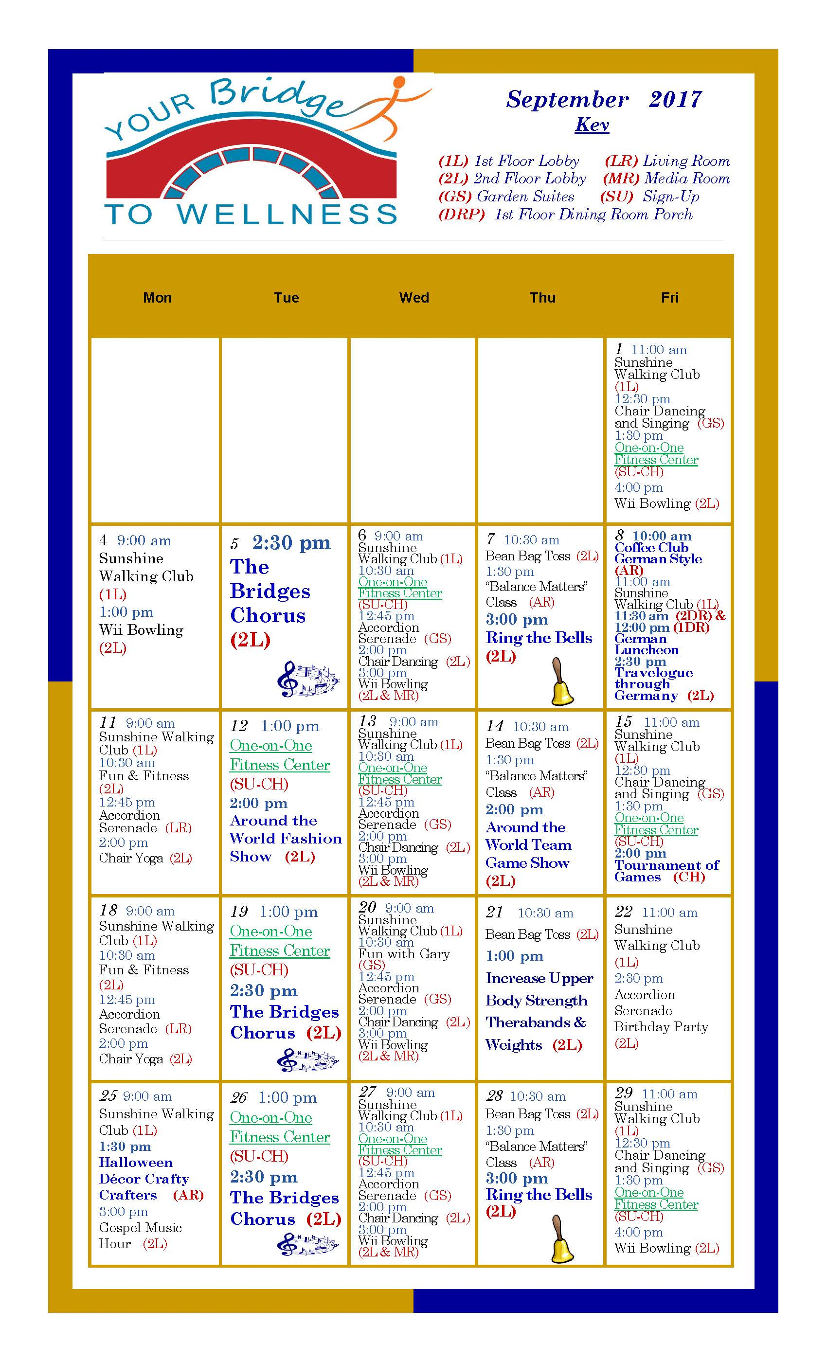 September 2017 Wellness Calendar