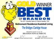 Brandon Retirement Community, the Bridges, Wins the Best of Brandon Award