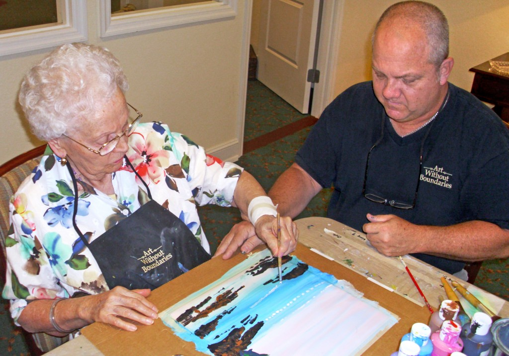 Brain Therapy Through Art at Riverview Assisted Living Community