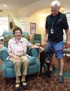Rex, the pet therapy dog