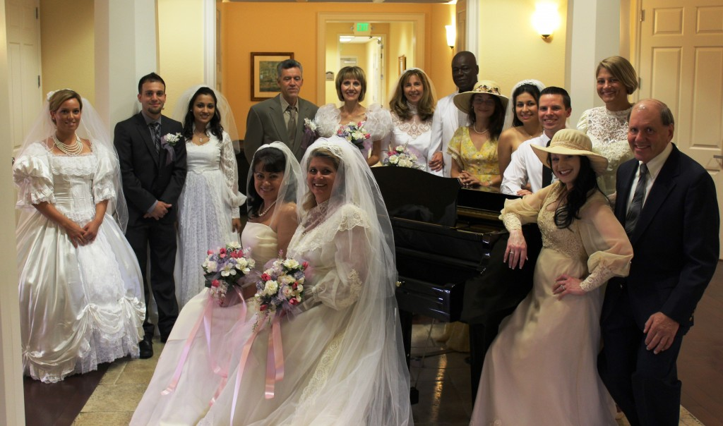 Bridal Fashion Show featuring employees, daughters & granddaughters of residents at The Bridges Assisted Living community.