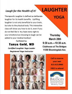 Laughter Yoga flyer