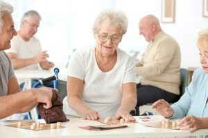 Senior Citizens playing a game